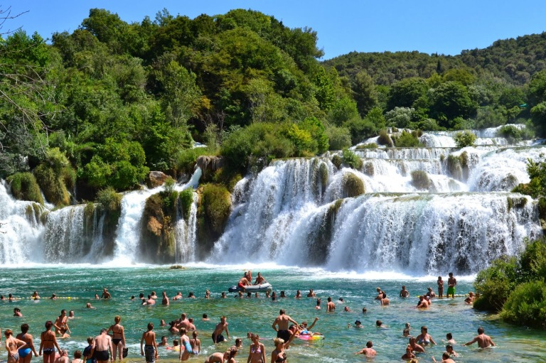 The Skradinski Buk waterfall at the Krka National Park (source - MikeW)