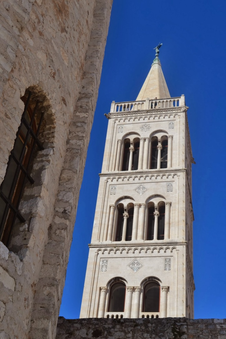 The Bell Tower at the Cathedral of St Anastasia. Go climb it! (source - MikeW)
