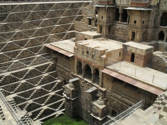 Chand Baori Stepwell - between Jaipur and Agra (source - MikeC)
