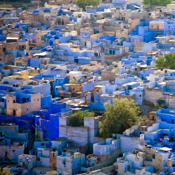Jodhpur, the Blue City (source - junctionholidays.com)